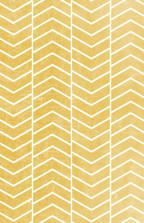 Yellow Chevron Canvas Print