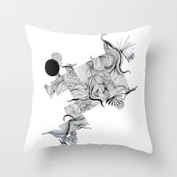 Abstract Line Drawing Throw Pillow