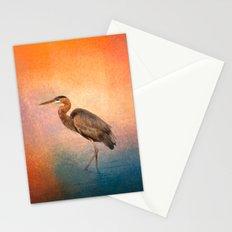 Sunset Heron Stationery Cards