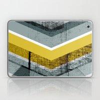 Grey & Yellow Chevron Laptop & iPad Skin