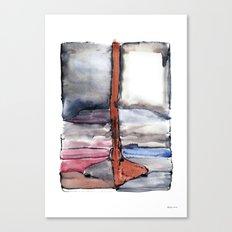 Boat, Waterink Canvas Print