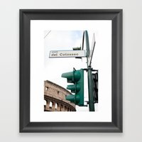 Piazza Del Colosseo Framed Art Print