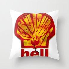 Hell Oil Throw Pillow