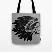 Chief Two Moons Tote Bag