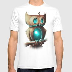 Night Owl Mens Fitted Tee White SMALL
