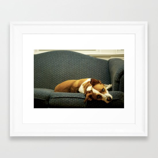 Bored With My Days Framed Art Print