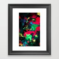 Framed Art Print featuring Splash by RIZA PEKER