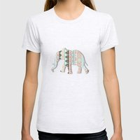 Elephant  Womens Fitted Tee Ash Grey SMALL