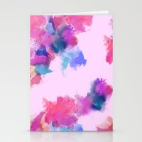 Printed Silk Rose Clouds Stationery Cards