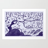 Purple Tree Art Print