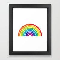 Rainbow - To Wear Framed Art Print