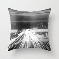 The Night Vibes Electric Throw Pillow