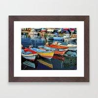 Puerto Mogan Boats Framed Art Print