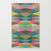 Colorblock Tribal Triangle Pattern Canvas Print