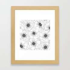 White Anemones Framed Art Print