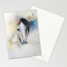 Horse Watercolor Painting Stationery Cards