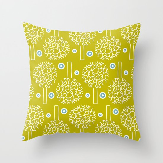 Annika Trees Throw Pillow