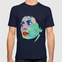 Jeanne D'Arc Mens Fitted Tee Navy SMALL