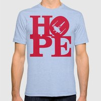 HOPE Mens Fitted Tee Tri-Blue SMALL