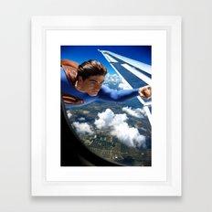 It's a bird, It's a plane... Framed Art Print