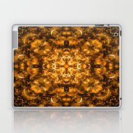 Golden Kaleidoscope Laptop & iPad Skin
