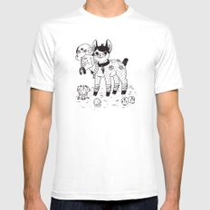 Beelzebub's Best Friends SMALL White Mens Fitted Tee