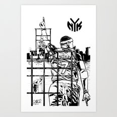 Knicks Liberty Art Print