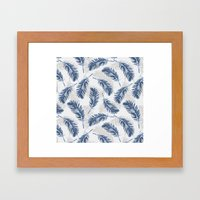 My Blue Feathers Framed Art Print