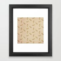 Squirrel Pattern Framed Art Print