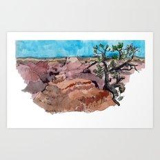a rip in the earth Art Print
