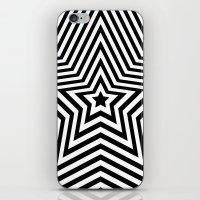 Stars - Black & White Ve… iPhone & iPod Skin