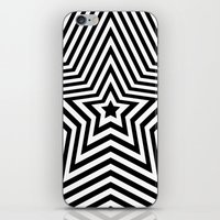 Stars - black & white vers. iPhone & iPod Skin