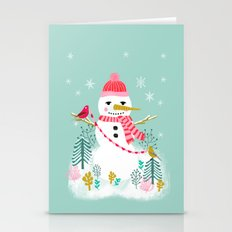 Holiday Snowman By Andre… Stationery Cards