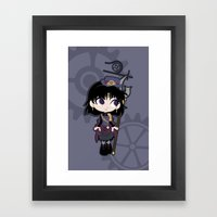 Steampunk Sailor Saturn … Framed Art Print