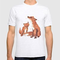 Lemon Foxes Mens Fitted Tee Ash Grey SMALL