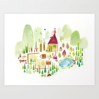 House in the Forest Art Print