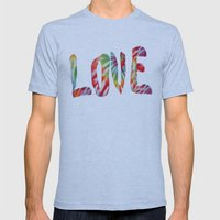 A Fractal of Love Mens Fitted Tee Athletic Blue SMALL