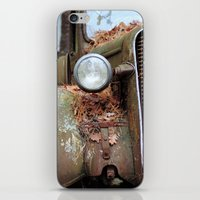 Vintage headlight iPhone & iPod Skin