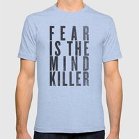 FEAR IS THE MINDKILLER Mens Fitted Tee Athletic Blue SMALL