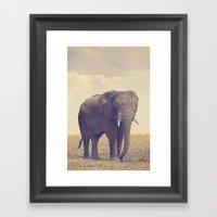 The Biggest Elephant In … Framed Art Print