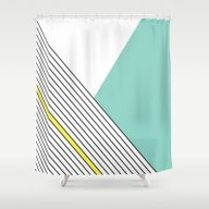 Shower Curtain featuring MINIMAL COMPLEXITY by .eg.