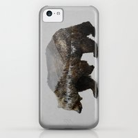 iPhone 5c Cases featuring The Kodiak Brown Bear by Davies Babies