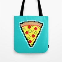 Pixel Pizza Tote Bag