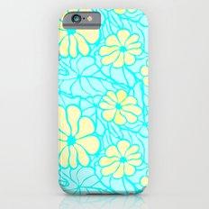 Summer Flowers in Blue Slim Case iPhone 6s