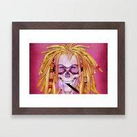 Jamaican Skull Framed Art Print