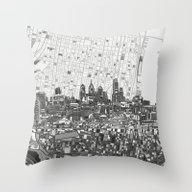 Philadelphia City Skylin… Throw Pillow