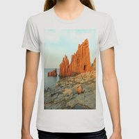 Red Rocks of Arbatax - Italy Womens Fitted Tee Silver SMALL