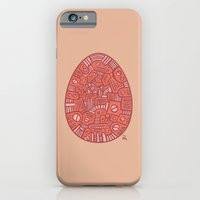 iPhone & iPod Case featuring Red Mechanical Egg by Pascal Mabille (PM)