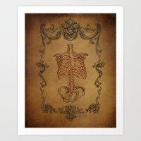 Scrolls & Bones Art Print