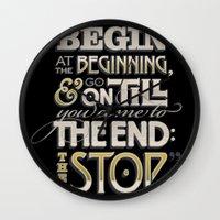 Begin at the Beginning Wall Clock